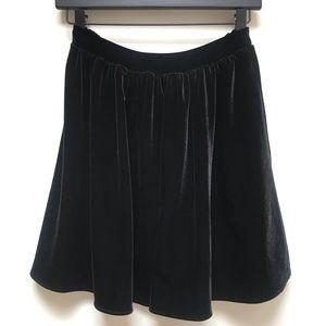 American Apparel Black Velvet Skirt